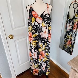 Lane Bryant floral maxi lace dress size 26 / 28